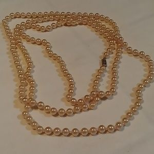 Champagne Faux Pearl Necklace